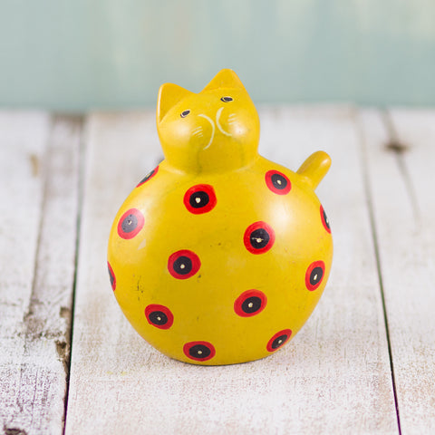 Soapstone Fat Cat Yellow