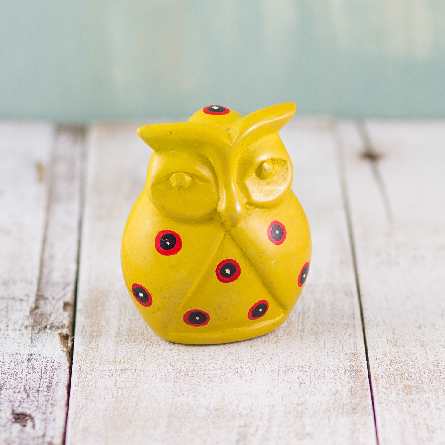 Soapstone Owl Yellow