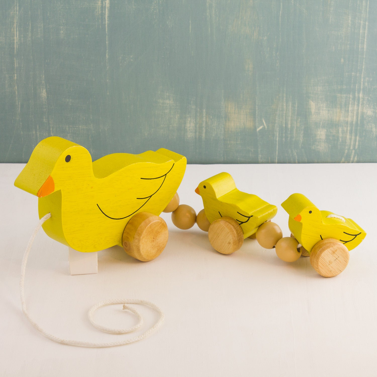 Wooden Pull-Along Duck Family