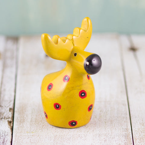 Soapstone Moose Yellow
