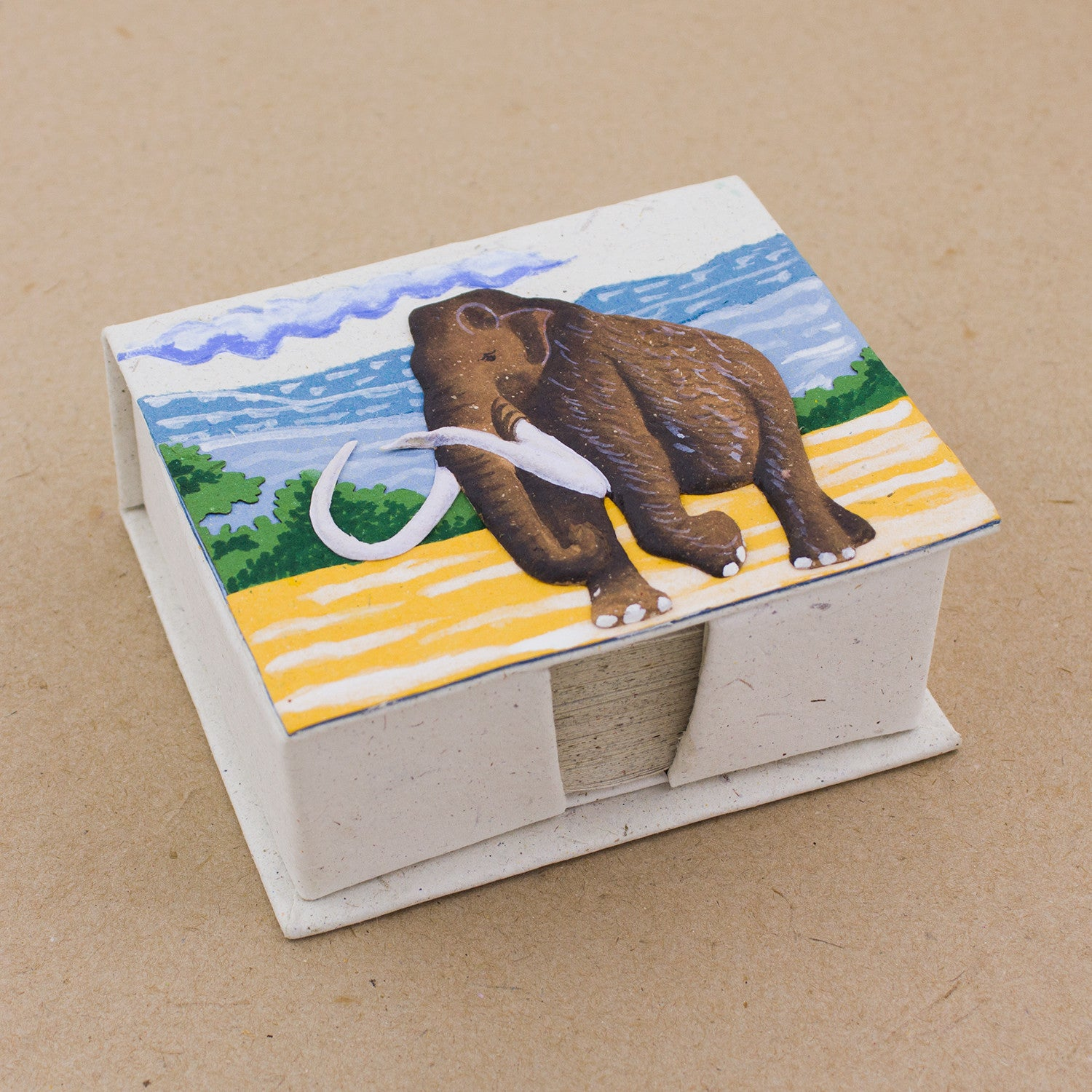 Note Box Woolly Mammoth Natural White