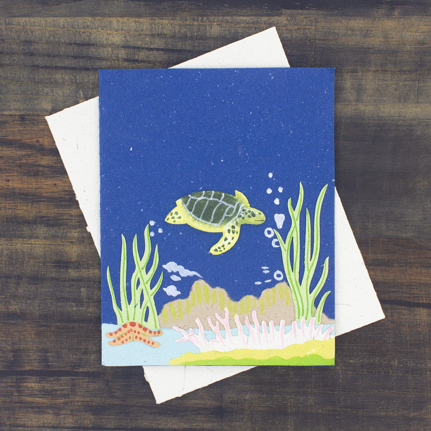 Single Greeting Card Sea Turtle