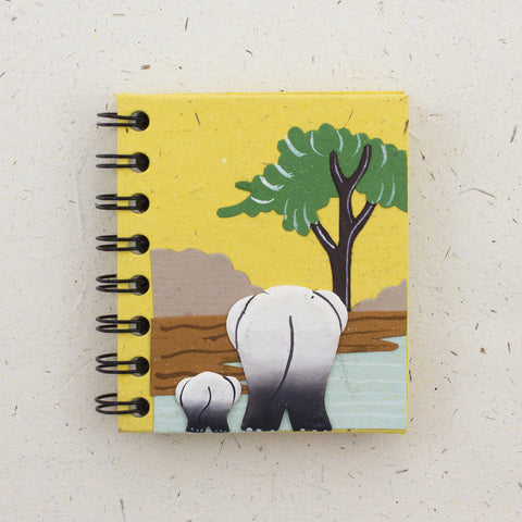 Small Notebook Elephants Yellow