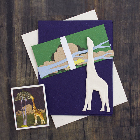 DIY Single Greeting Card Kit Giraffe
