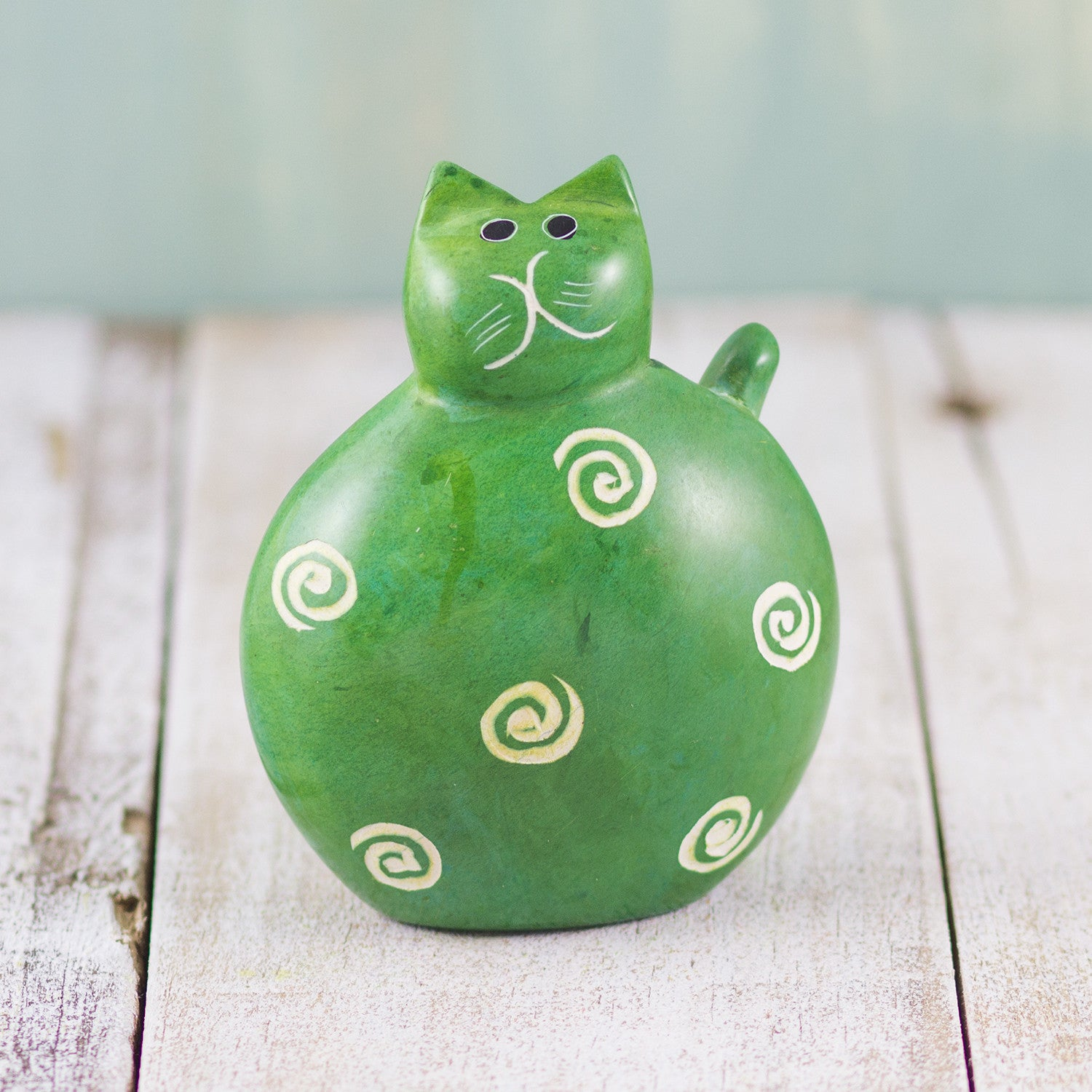 Soapstone Fat Cat Green