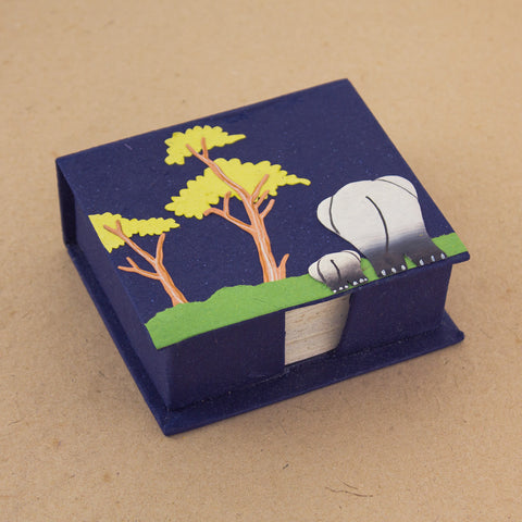 Note Box Mama and Baby Ellies Dark Blue