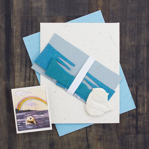 DIY Single Greeting Card Kit Sea Otter