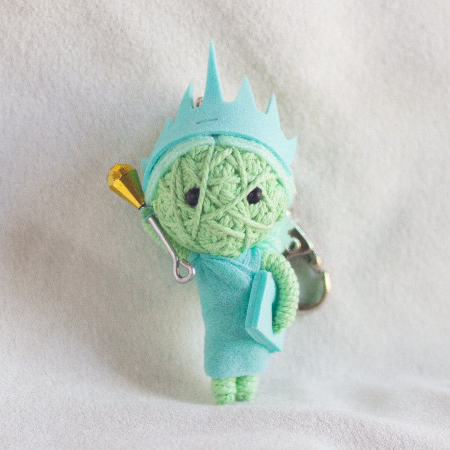 String Doll Keychain Lady Liberty