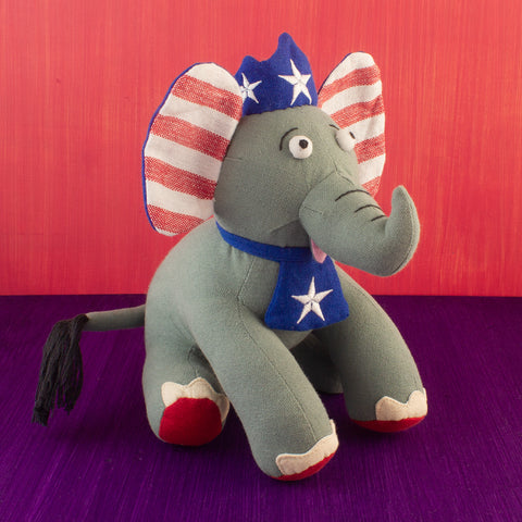 Patriotic Elephant Doll