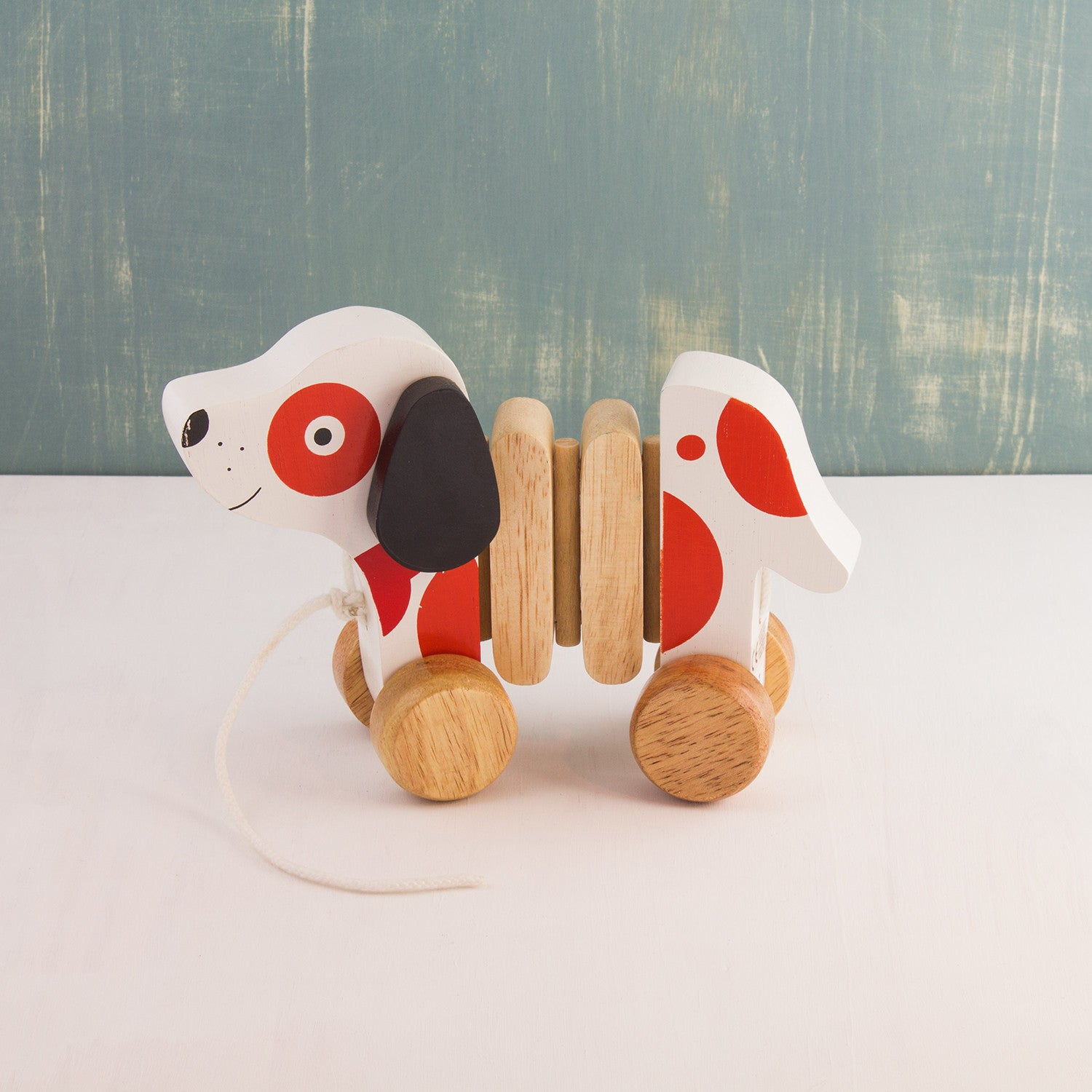Wooden Pull-Along Puppy Dog