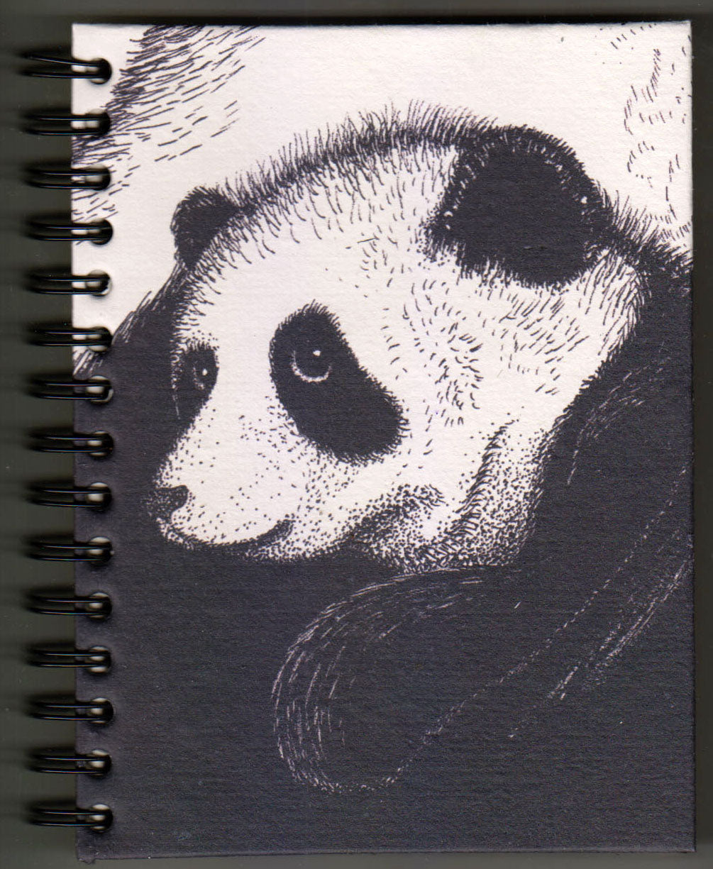 Large Notebook - White Baby Panda