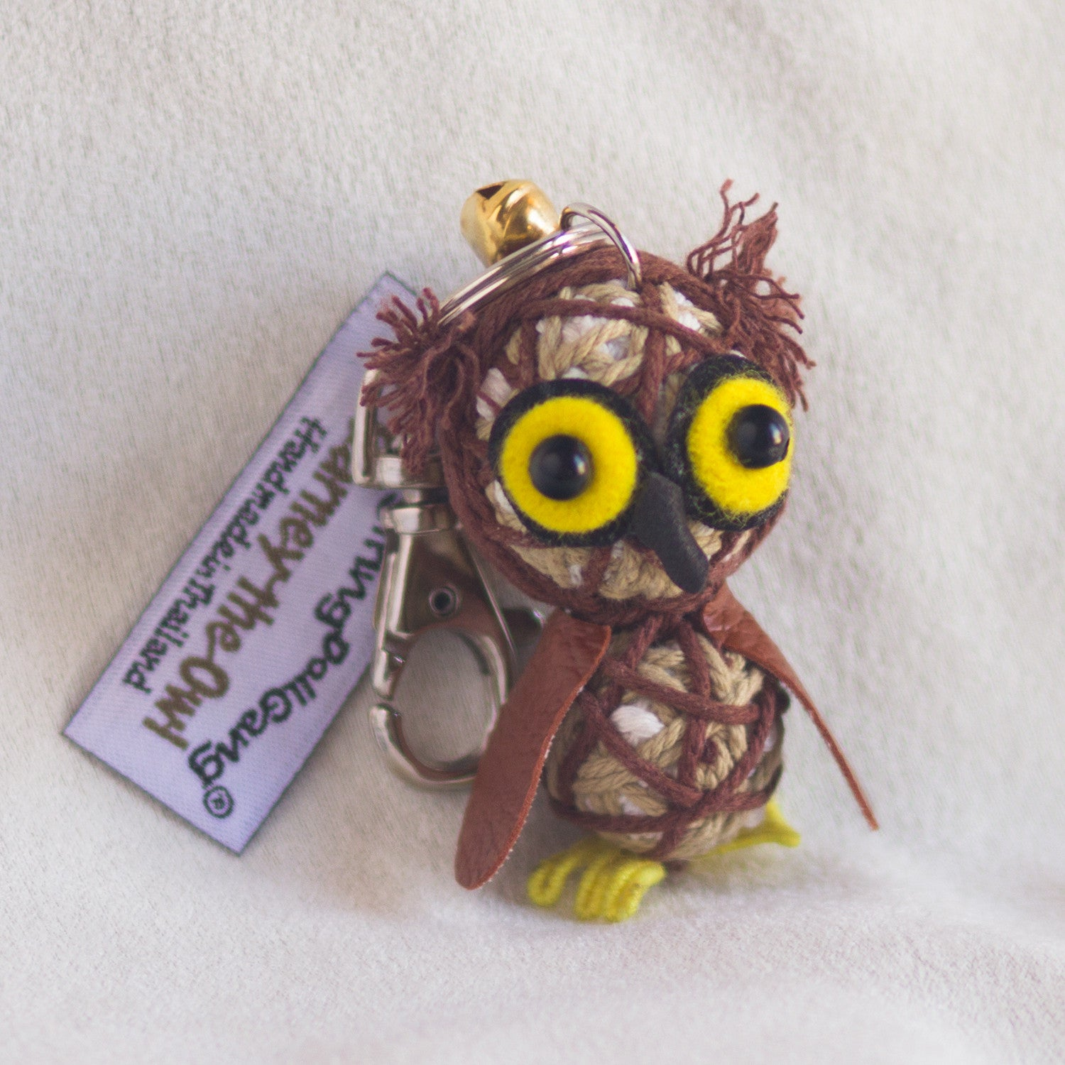 String Doll Keychain Barney the Owl