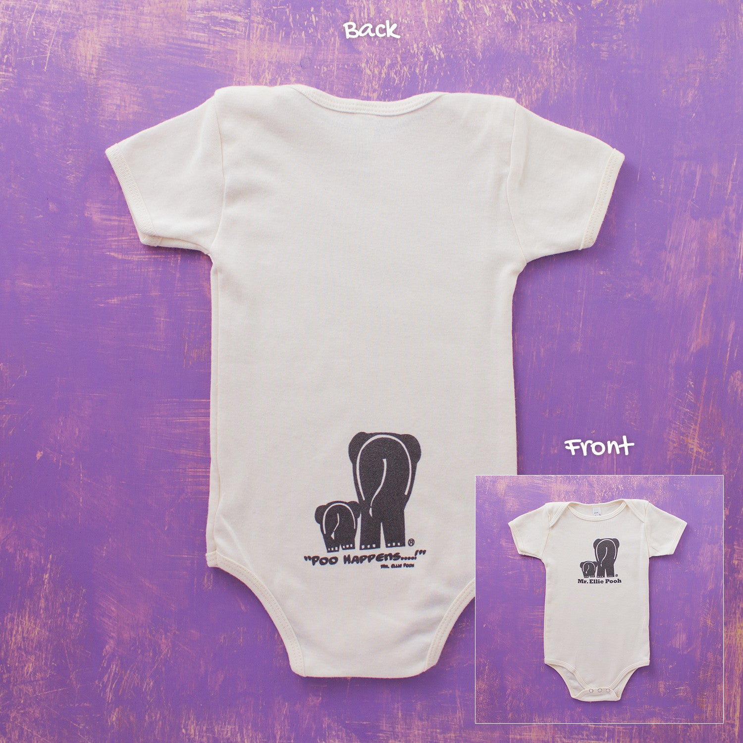 Mr. Ellie Pooh Organic Cotton Baby Onesies