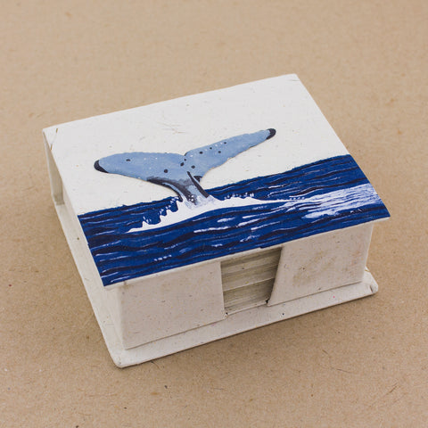 Note Box Whale Tail Natural White