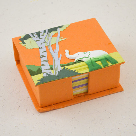 Note Box Elephant Orange