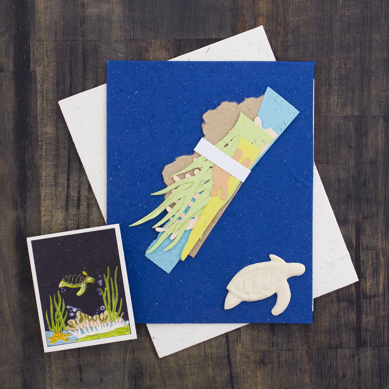 DIY Single Greeting Card Kit Turtle