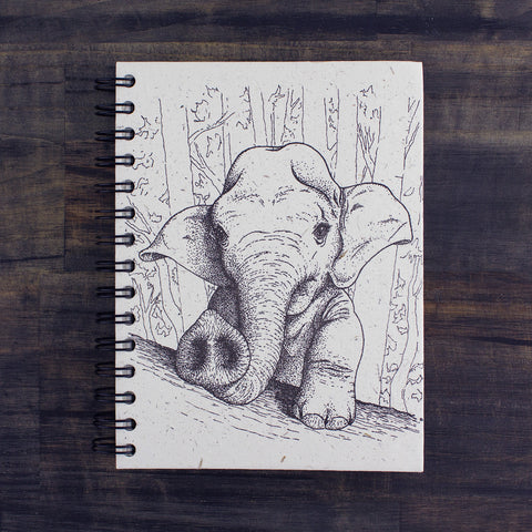 Large Notebook Baby Elephant Sketch