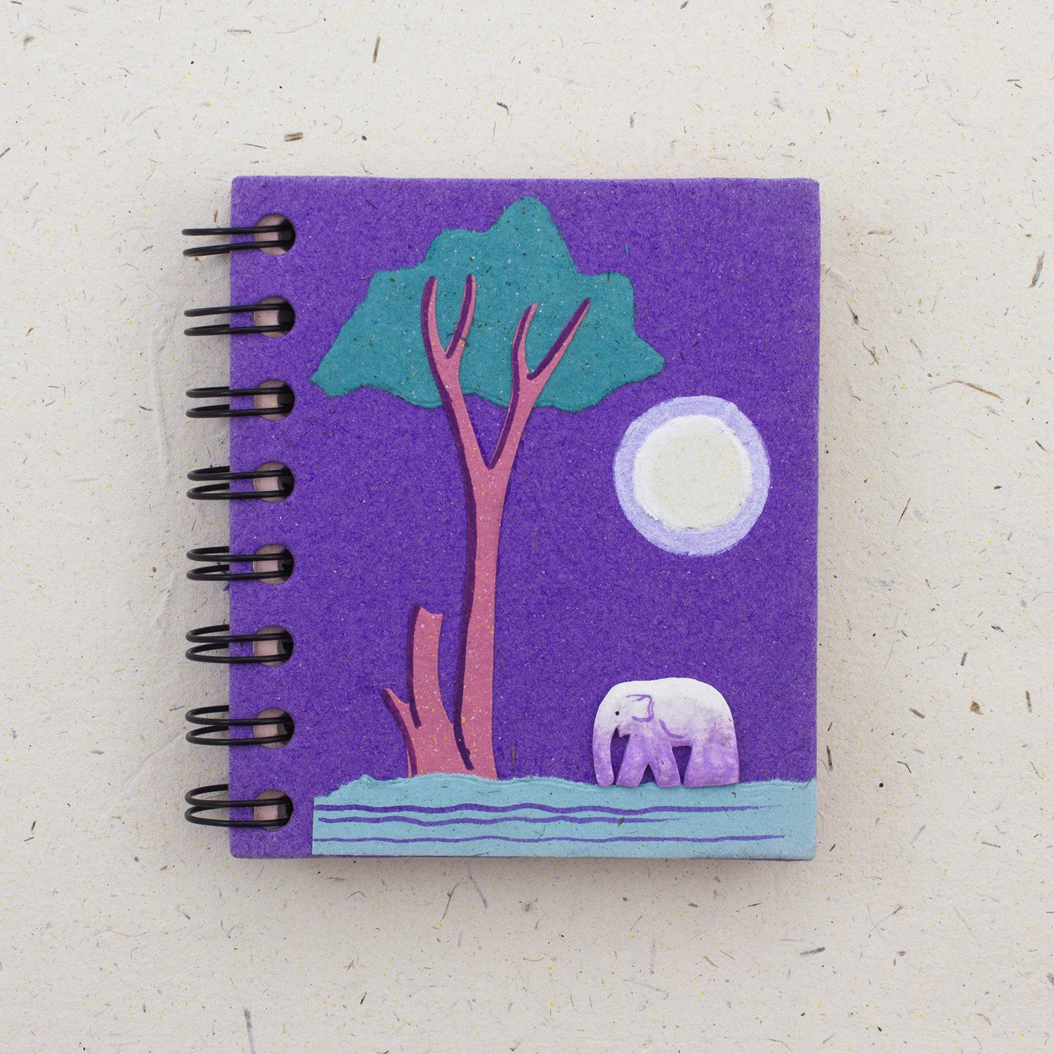 Small Notebook Elephant Purple
