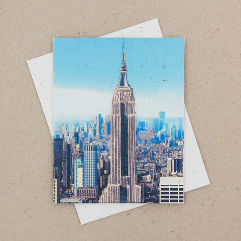 Single Greeting Card Empire State Building Embellished Print