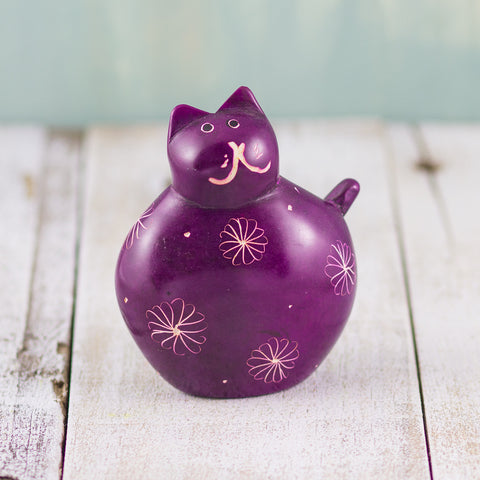Soapstone Fat Cat Purple
