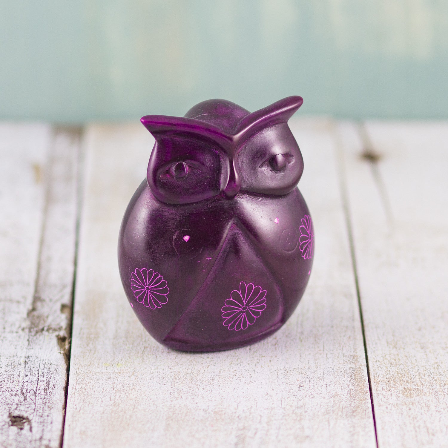 Soapstone Owl Purple