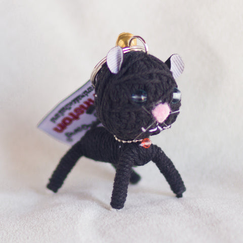 String Doll Keychain Winston the Cat