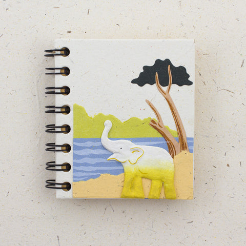 Small Notebook Elephant Natural White