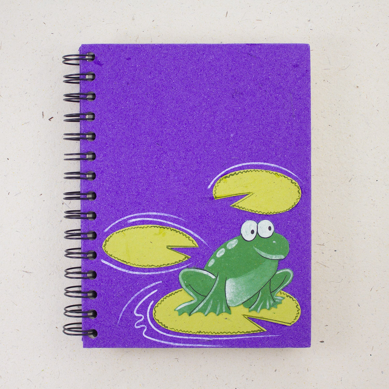 Large Notebook Frog Purple