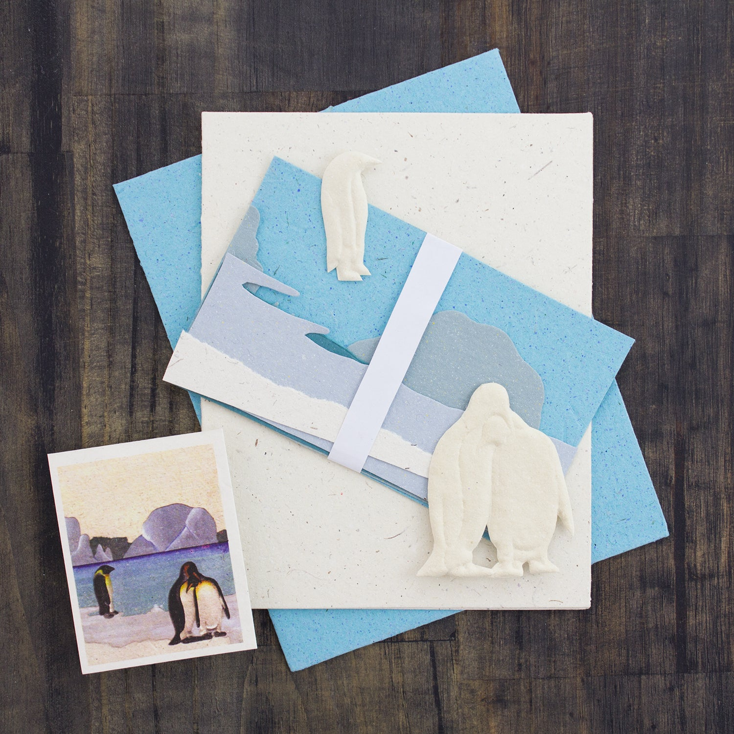 DIY Single Greeting Card Kit Penguins