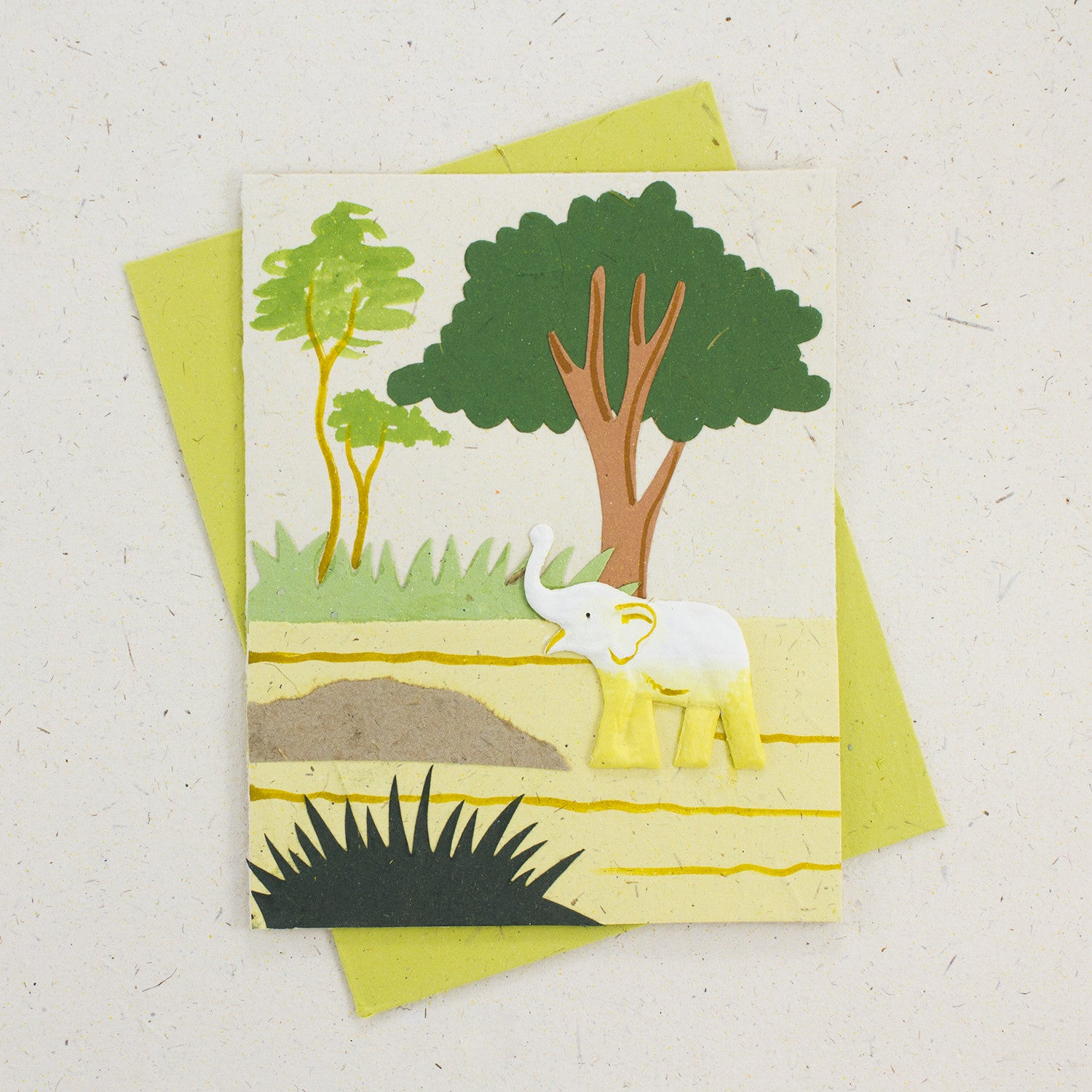 Single Greeting Card Natural White