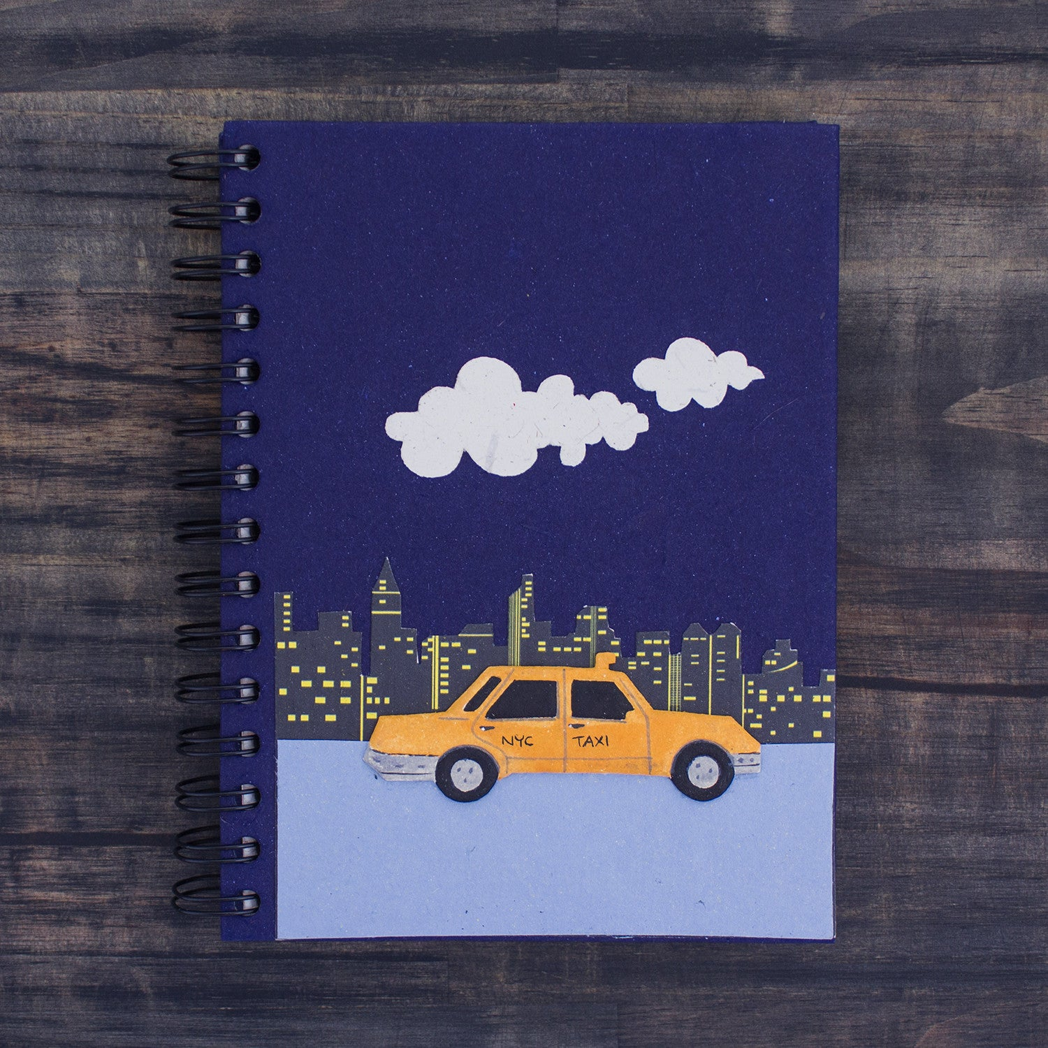 Large Notebook NYC Taxi Dark Blue
