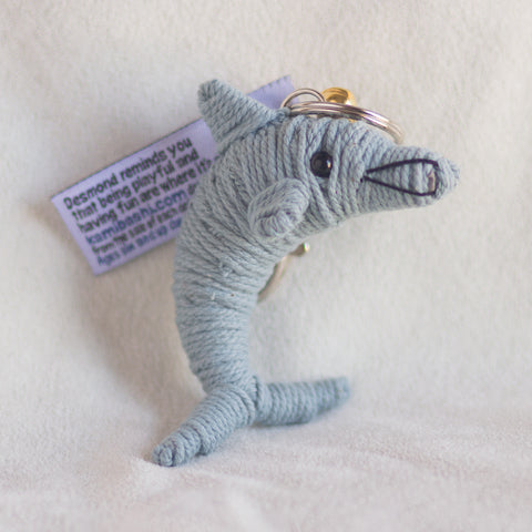String Doll Keychain Desmond the Dolphin