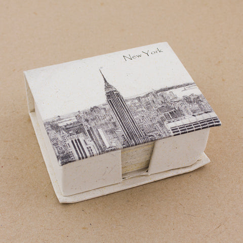Note Box Empire State Building Sketch Natural White