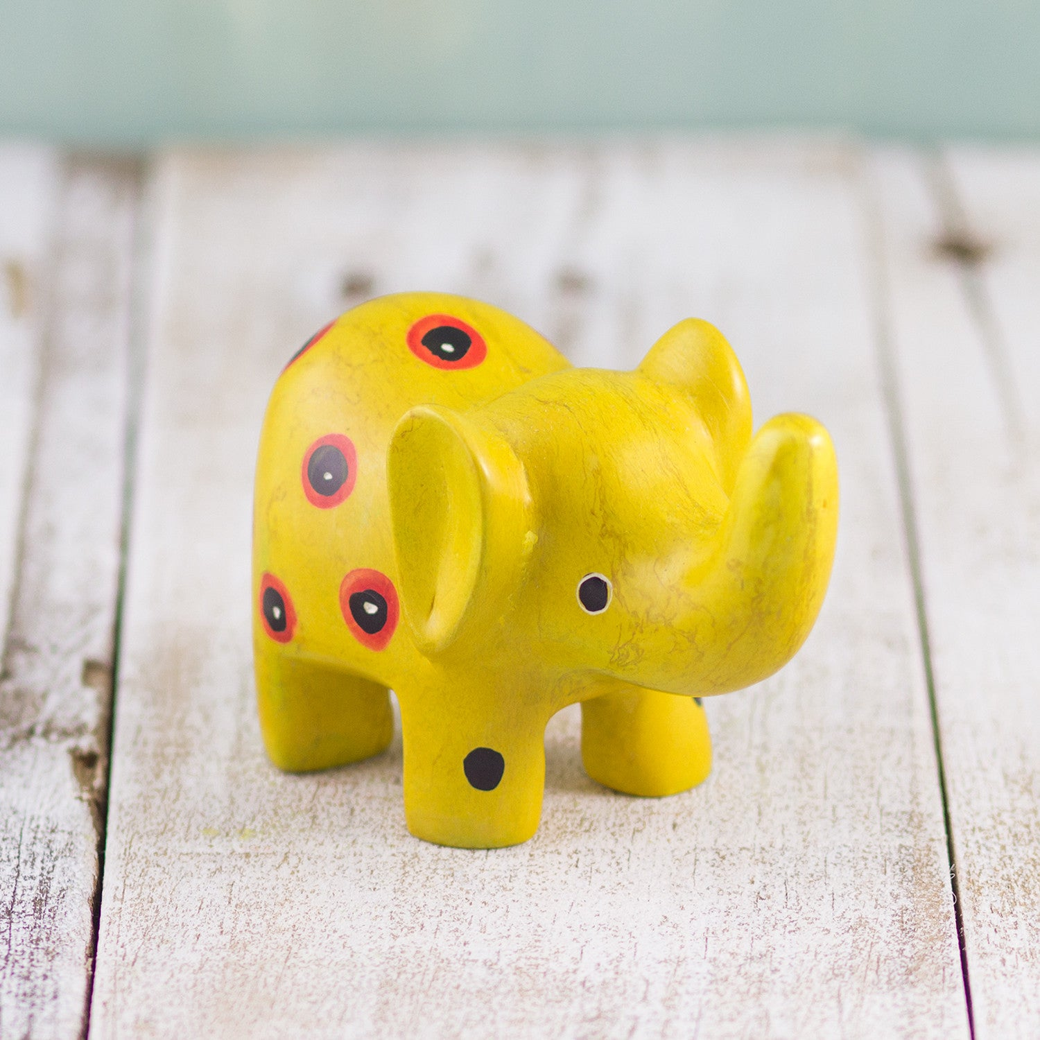 Soapstone Small-Eared Elephant Yellow