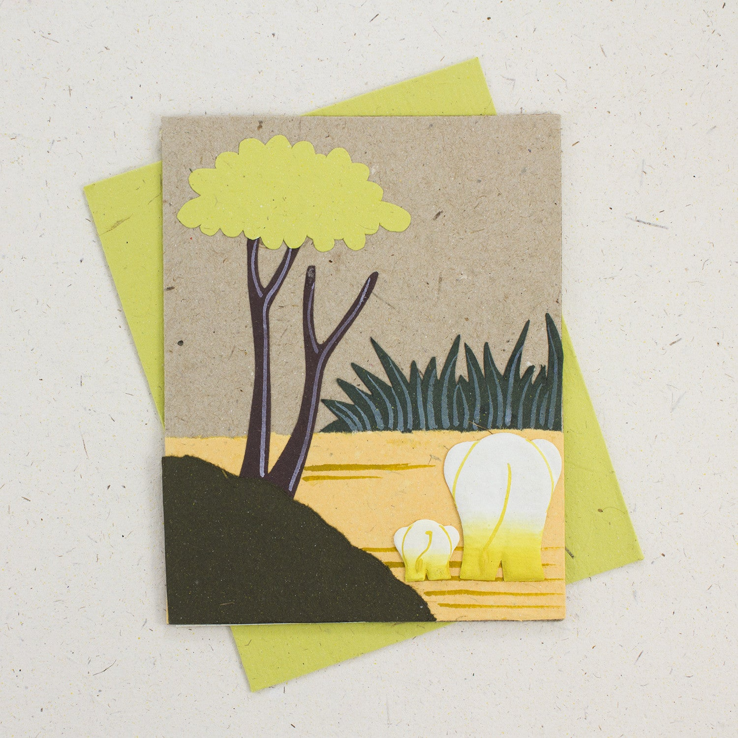 Single Greeting Card Natural Kraft