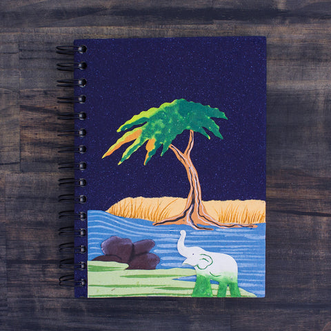 Large Notebook Good Luck Ellie Midnight Blue
