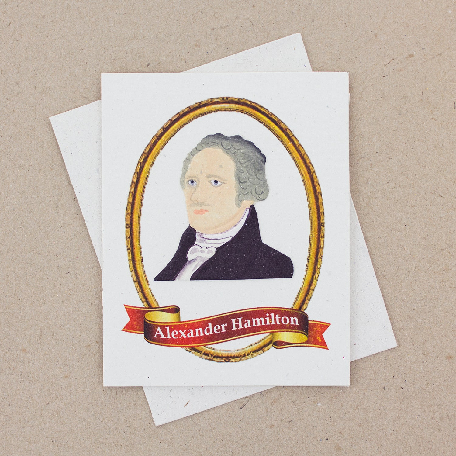 Single Greeting Card Alexander Hamilton Embossed