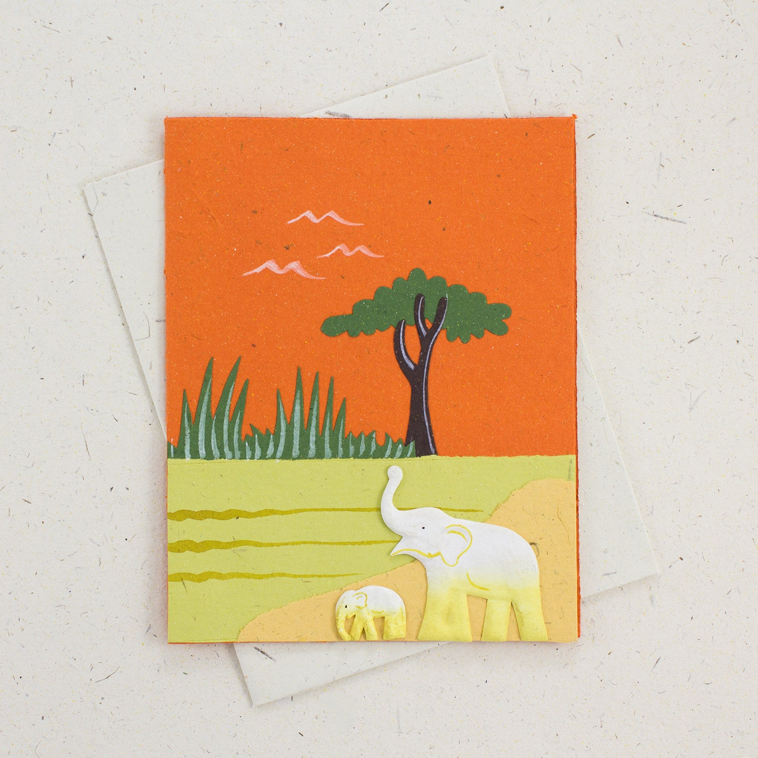 Single Greeting Card Orange