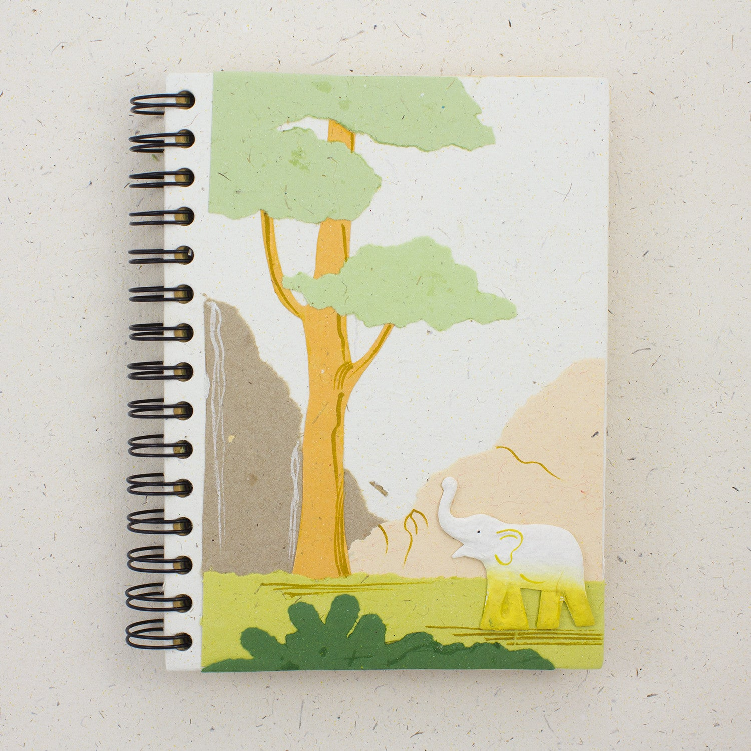 Large Notebook Elephant Natural White