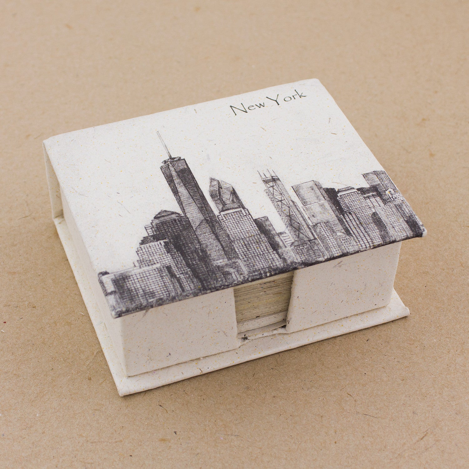Note Box NYC Downtown Sketch Natural White