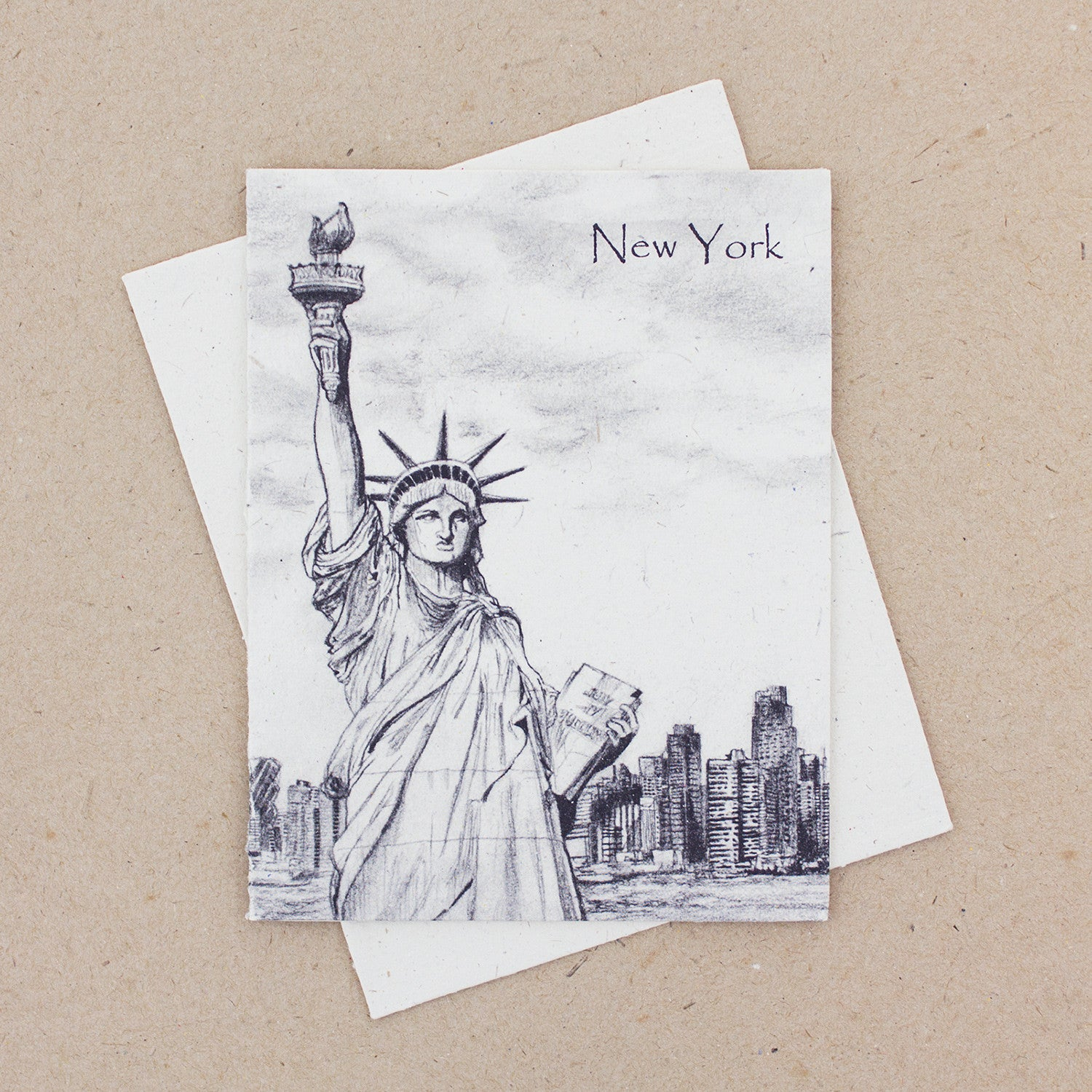 Single Greeting Card Statue of Liberty Sketch