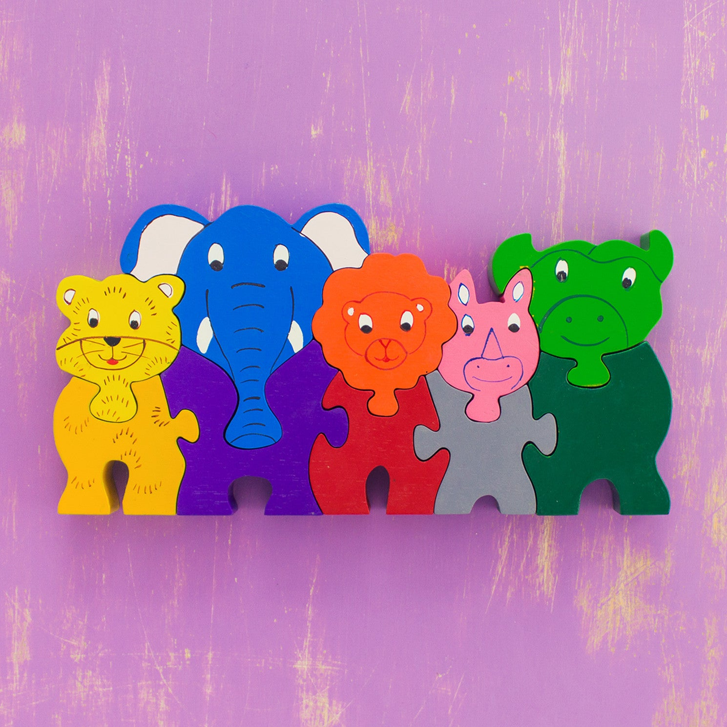 Wooden Puzzle Jungle Animals