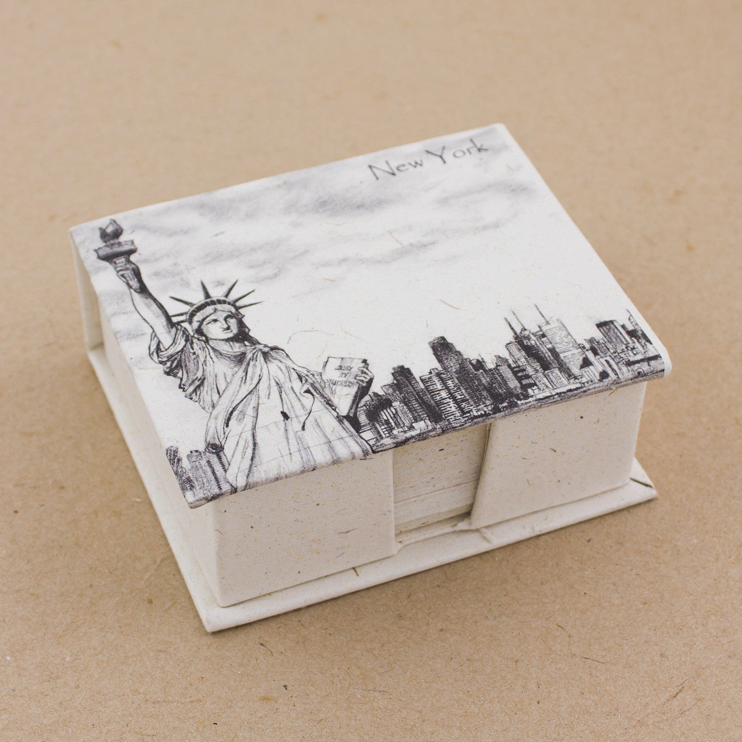 Note Box Statue of Liberty Sketch Natural White