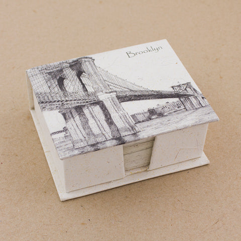 Note Box Brooklyn Bridge Sketch Natural White