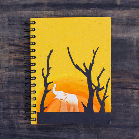 Large Notebook Good Luck Ellie Yellow