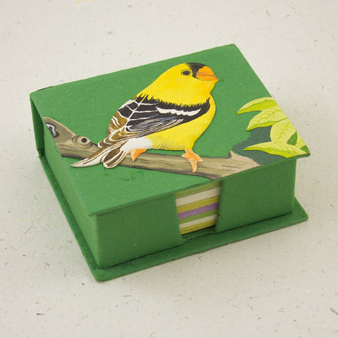 Note Box Goldfinch Dark Green