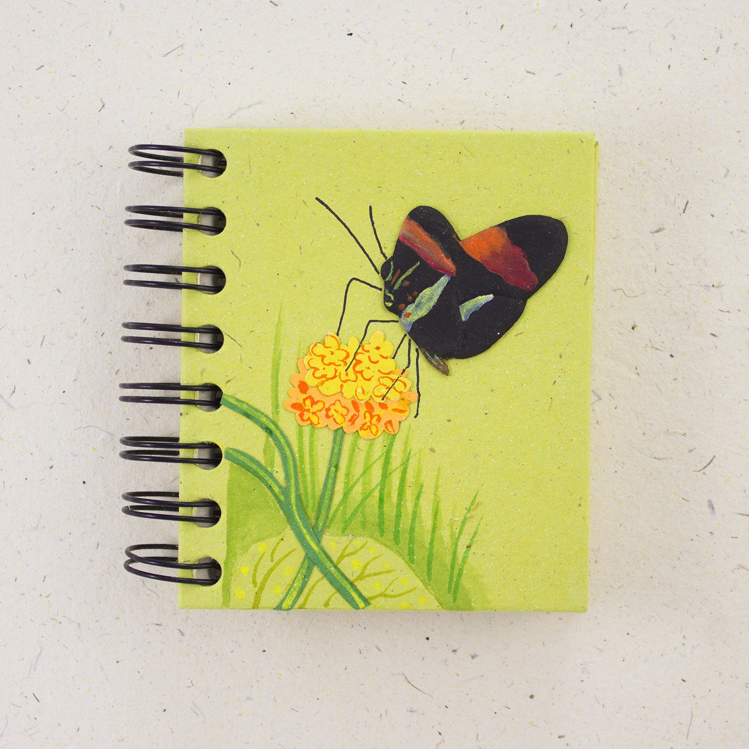 Small Notebook Butterfly Light Green