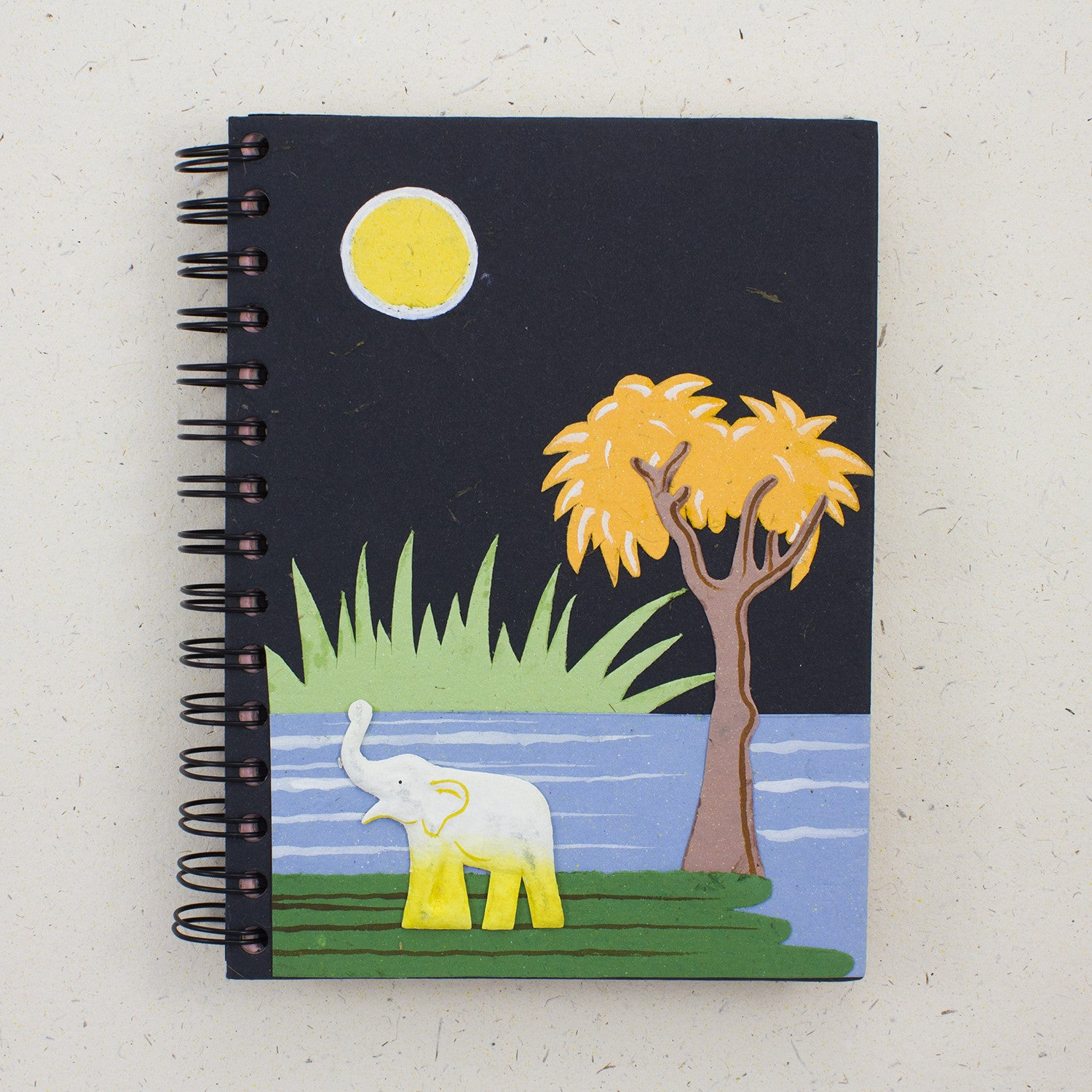 Large Notebook Elephant Black