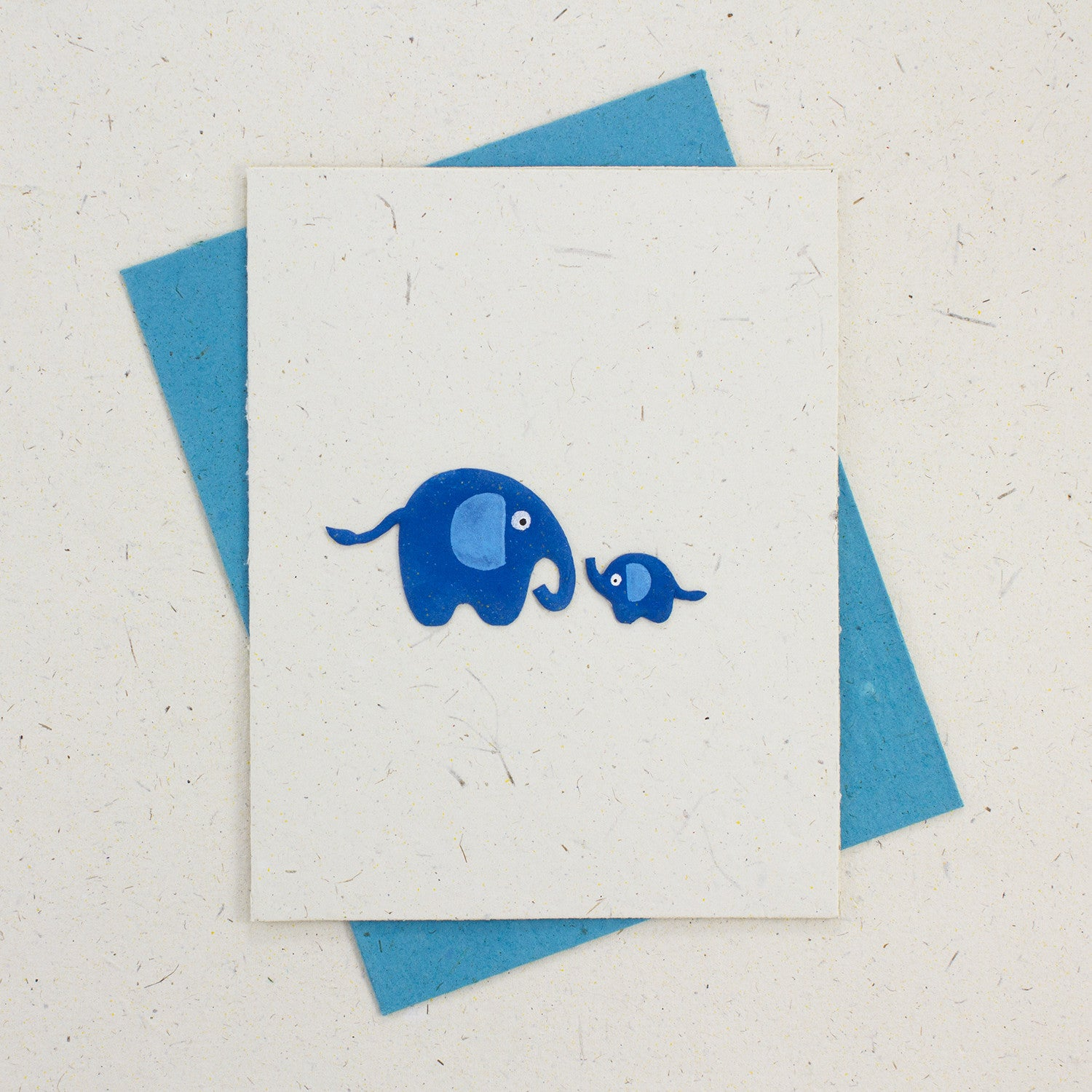Single Greeting Card Baby Blue
