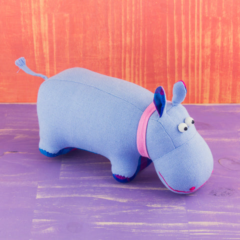 Fabric Plush Hippo